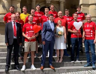 Hochzeit vom Kapitän der 1. Herrenmannschaft Tim Ehrlinger